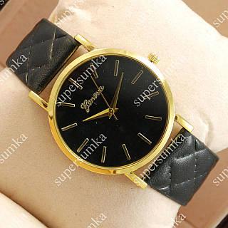 Элегантные наручные часы Geneva Black/Gold/Black 1033