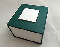 Коробочек с подушечкой для часов зеленая
