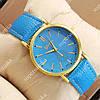 Кварцевые наручные часы Geneva Sky Blue/Gold/Sky Blue 1043