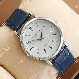 Стильные наручные часы Geneva Blue/Silver/White 1046