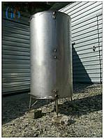 Буферная емкость для отопления: 480 литров, два теплообменника, регулируемая высота, нержавеющая сталь