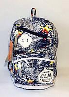 Стильный рюкзак для города, модель CLN 8090, повседневный, вместительный, материал холст