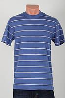 Футболка мужская с полосками светло-джинсовая рр.48-56