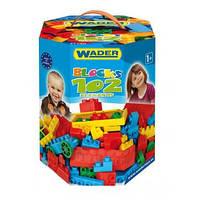 Детский конструктор Wader на 102 элемента.