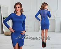 Платье Адель трикотаж + гипюр  (размеры 48-50)