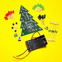 Электронный конструктор, набор для пайки Новогодняя ёлка