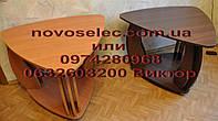 Журнальный стол ТРИО - столик передвижной на резиновых колесах