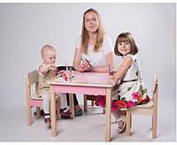 Столик со стульчиками для детей (столик имеет раскрывающуюся крышку)