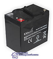 Акумуляторна AGM батарея KM 12-60 Ah, фото 1