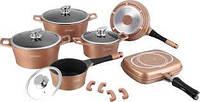Набор посуды Royalty Line RL ES-1015M Мрамор, разные цвета