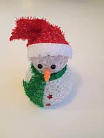 Мини светильник Снеговик Кристалл(меняет цвета подсветки)