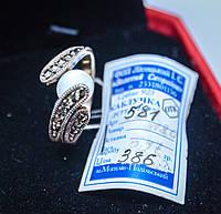 Нарядное колечко с жемчужинкой в милом дизайне. Капельное серебро 18 размер