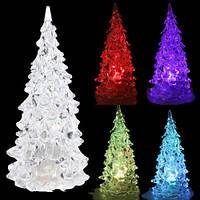 """Мини-светильник LED """"Новогодняя ёлочка"""" (мигает всеми цветами радуги) высота 12,5 см."""