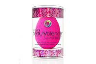 Beautyblender original Pink в упаковке (розовый) + Средство для очищения спонжа mini Solid США
