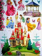 Наклейка виниловая Сказочный замок 3D декор