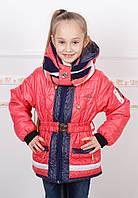 """Оригинальная демисезонная курточка для девочки с хомутом  """"Хама"""" от производителя"""