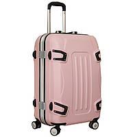 Стильный пластиковый чемодан на колесах, средний, 5101813