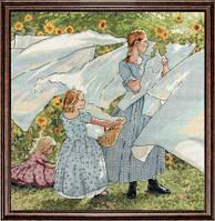 """Набор для вышивания крестом """"Fresh Linen (Свежее постельное белье)"""""""