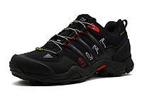 Кроссовки Adidas Terrex, мужские, текстильные черные с красным, фото 1