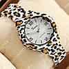 Модные наручные часы Geneva Platinum White-leopard/White 1068