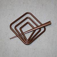 Заколка квадрат для нитяных штор, коричневый 85х85мм