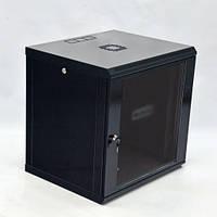 Шкаф 12U, 600x600x640мм (Ш * Г * В), эконом, акриловое стекло, чёрный