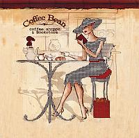 """Схема для вышивания бисером на подрамнике (люди) """"Coffee Bean"""""""