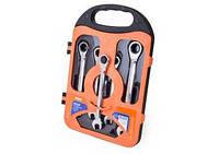 Набор ключей комбинированных с трещеткой 5 ед., 10-17 мм Miol 52-250