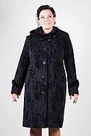 Зимнее пальто с отделкой из натуральной норки (рр 48-56)
