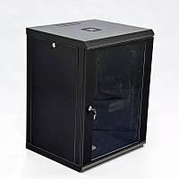 Шкаф 15U, 600x600x773мм (Ш * Г * В), эконом, акриловое стекло, чёрный