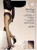Прозрачные матовые колготки 40 ден с ажурными трусиками SISI Style 40