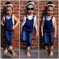 Детский джинсовый комбинезона на девочку