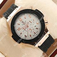 Практичные наручные часы Hublot Big Bang Black/White/Gold Glass 1202