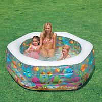 Надувной бассейн «Океанский риф». Бассейн Intex 56493 для детей и взрослых.