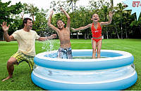 Надувной бассейн для ребёнка «Море». Бассейн для детей Intex 57489