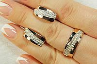 Серебряный набор из двух предметов - серьги и кольцо. Комплект серебряных украшений.