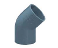 Колено ПВХ 45 градусов, диаметр 40 мм