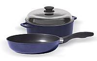 Набор посуды Кастрюля +Сковорода 24 см Биол 124ПС