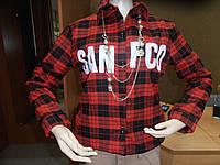 Клетчатые утепленные рубашки с карманами