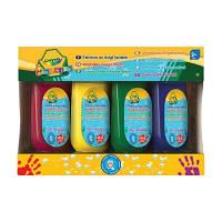 Набор для творчества Crayola 4 баночки со смываемыми красками для рисования пальцами (3239) Набор для