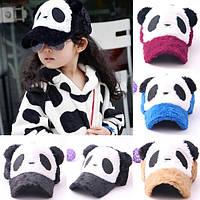 Оригинальная бейсболка для детей с ушками в виде панды. Мягкая кепка. Превосходное качество и цена. Код: КД53