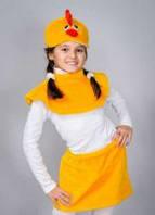 Карнавальный костюм для девочки Цыпленок с юбочкой
