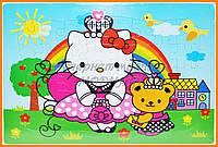 Картонные пазлы девочкам - Хелоу Китти