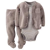 """Комплект для новорожденного малыша картерс 3в1   """"Плюшевый мишка""""NB рост 50-55см"""