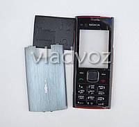 Корпус для Nokia X2 00 чёрный с клавиатурой без средней части 2A
