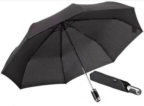 Мужской прочный зонт-автомат EuroSCHIRM Elk leather 3428-1120 черный