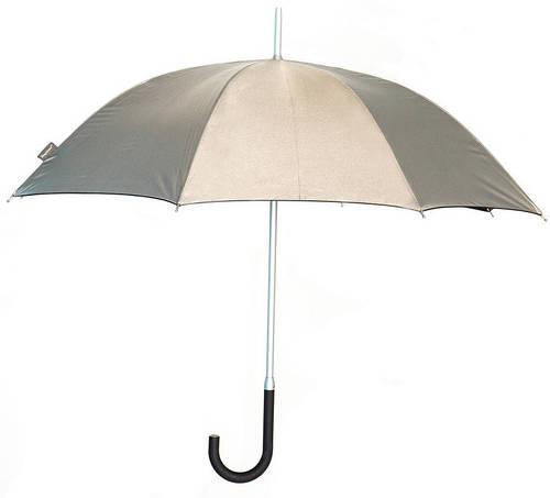 Качественный механический зонт-трость EuroSCHIRM Kompliment W109, W109-KSI/SU16459 серебристый