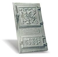 Печное и чугунное литье: Дверь чуг. спарка  (270*490) крючки.