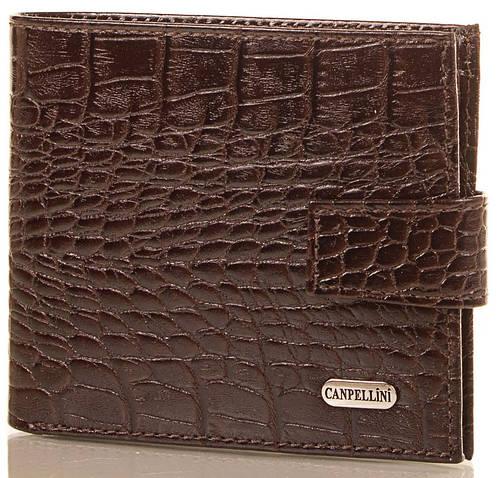 Модный мужской кошелек из кожи под крокодила CANPELLINI (КАНПЕЛЛИНИ) SHI1045-10-KR