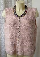 Безрукавка женская теплая жилет свитер бренд Roman р.50 4380